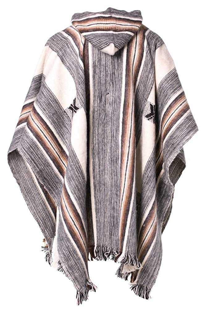 Gamboa Alpaca Rustic Poncho with Hood at Amazon Mens Clothing store: Apparel