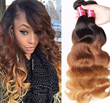 3/4 Bundles With Closure Hair Extensions & Wigs 4 Bundles Malaysian Curly Hair With Lace Closure #27 Honey Blonde Bundles With Closure 100% Human Hair Extensions Double Weft Durable Service