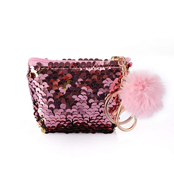 Amazon.com: Girls Glittering Sequin Coin Purse With Cute ...