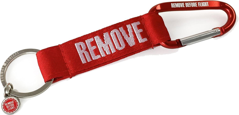 Remove Before Flight Schl/üsselanh/änger Karabiner-Strap