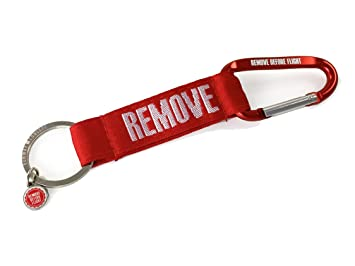 Llavero Mosquetón de Strap – Remove Before Flight