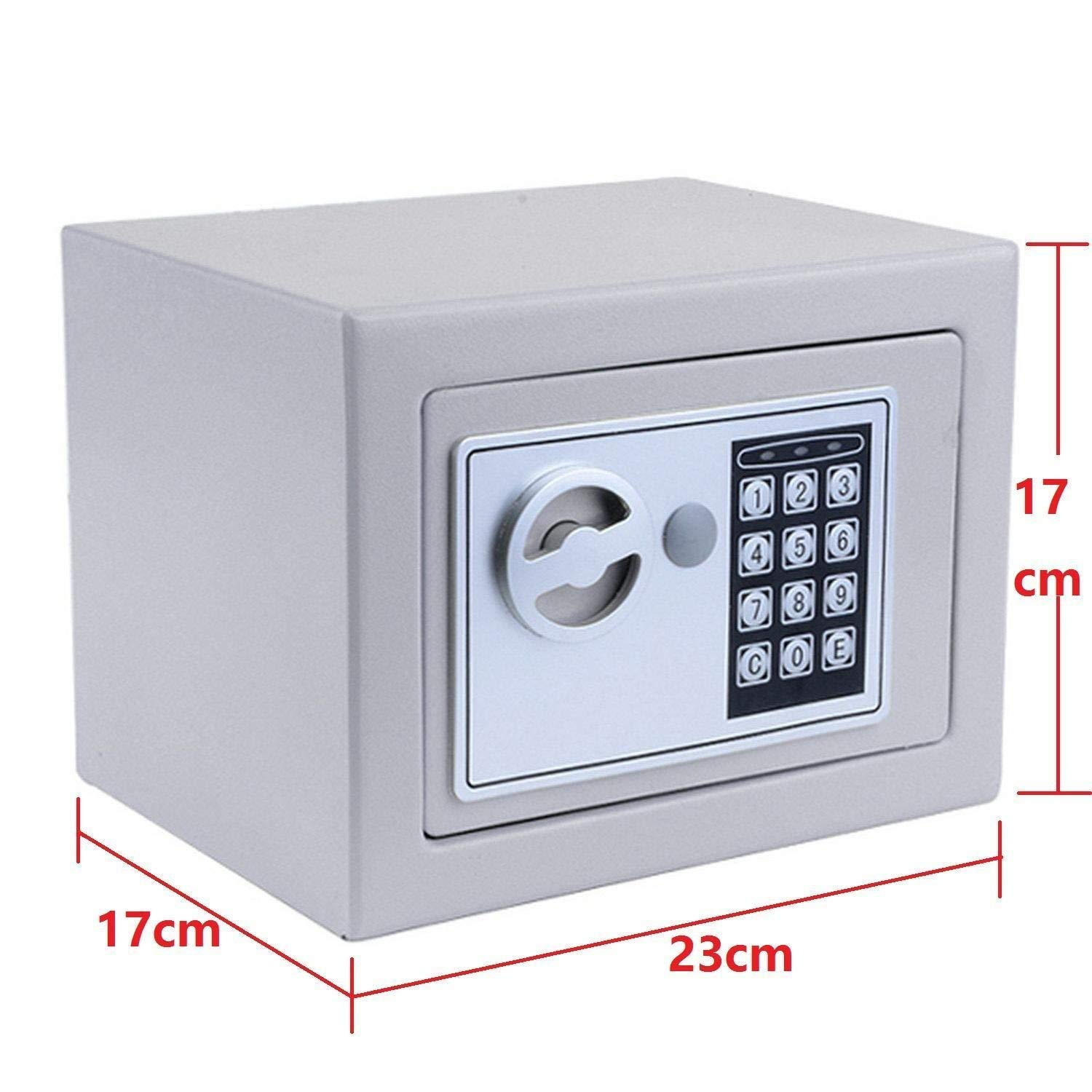 Hosmat Electronic Digital Security Safe Box, Fireproof Wall-Anchoring Safe Deposit Box for Home Office Hotel Business Jewelry Money (Silvery) by balanu (Image #5)
