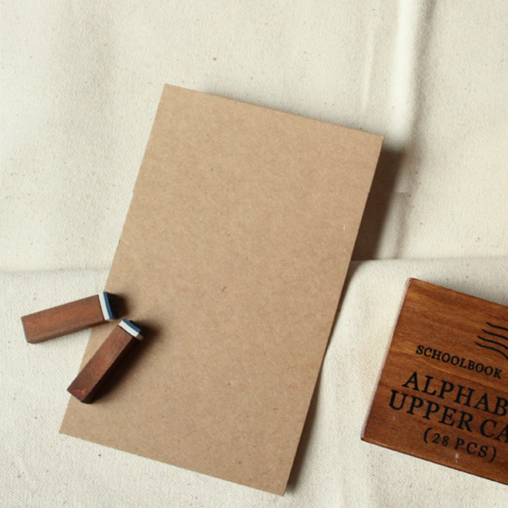 Fecedy 100 Pcs Vierges En Papier Kraft Cartes De Visite Word Carte Message DIY Cadeau