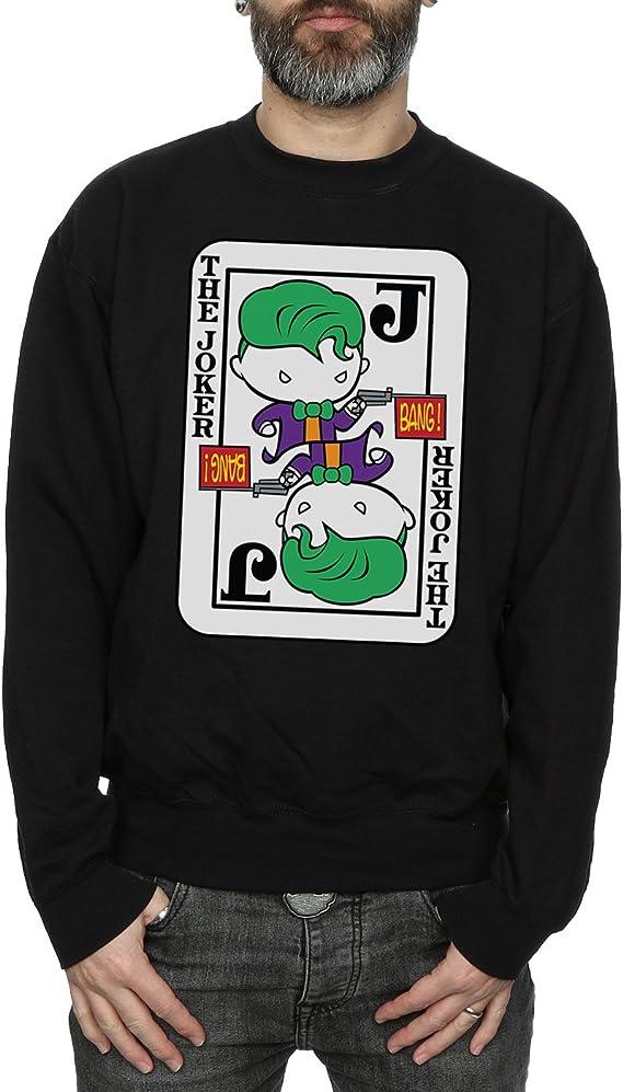 DC Comics Hombre Chibi Joker Playing Card Camisa De Entrenamiento Medium Negro: Amazon.es: Ropa y accesorios