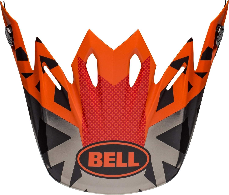 Prophecy Matte Orange//Black//Gray Bell Moto-9 Visor
