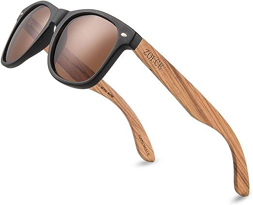Polarized Bamboo Aviator Sunglasses Men Women Retro Classic Wooden Frame UV 100/%