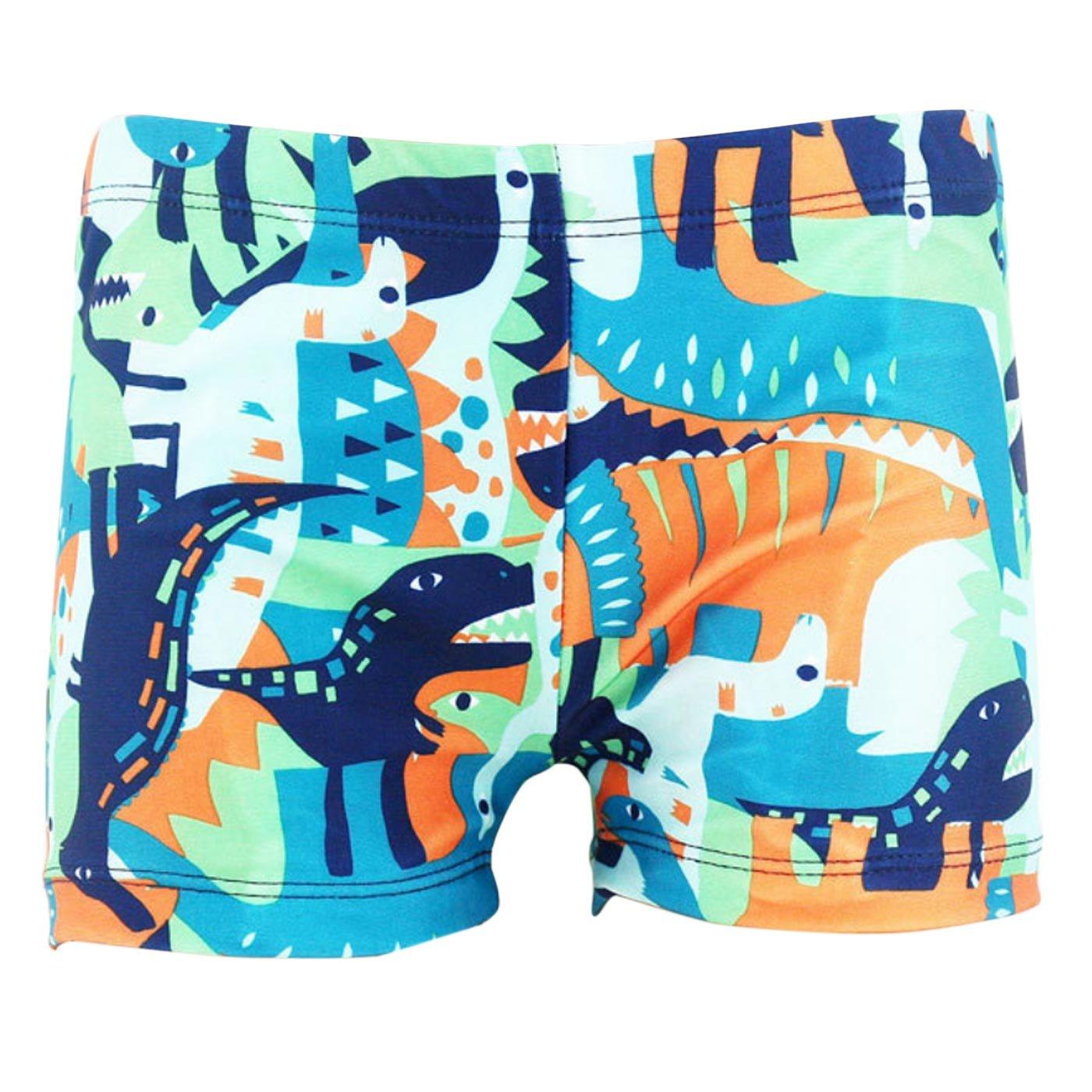 Happy Cherry Boys polyester Swim Trunks Cartoon Dinosaur Beach Children Boxers