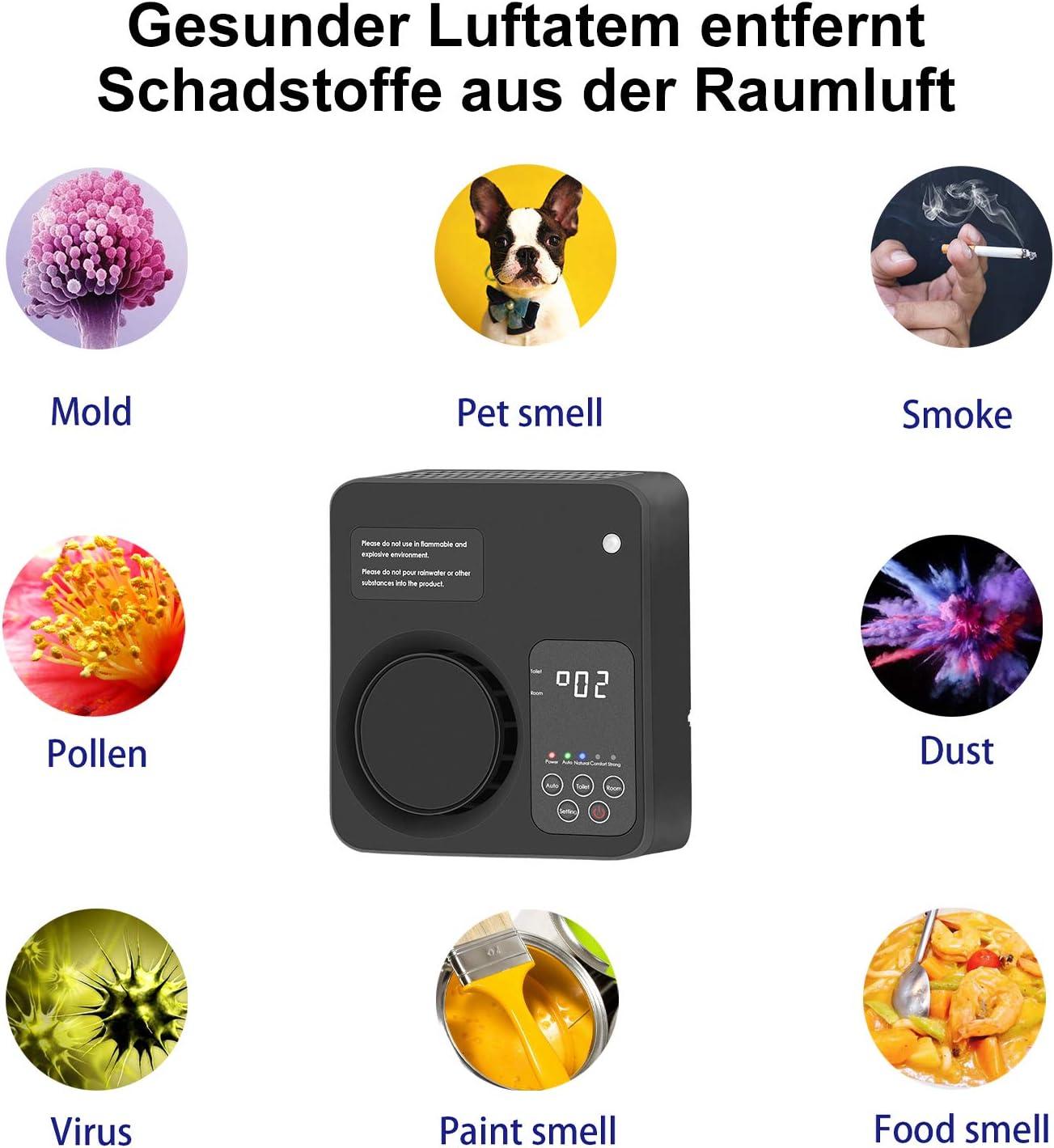 Tunume Generatore di ozono ionizzatore purificatore daria per la casa per la camera da letto e il WC dellufficio di Kichen bianco