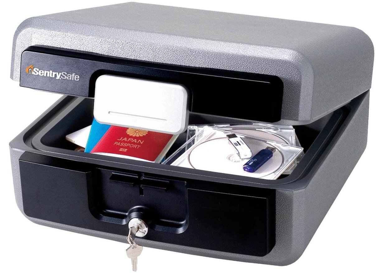 SentrySafe Fire Safe, Waterproof Fire Resistant Chest, 0.36 Cubic Feet, Large, HD2100