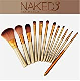LnLyin 12pcs Eye Shadow Foundation Eyebrow Lip Brush Makeup Brushes Set