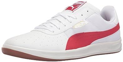 PUMA Men's g. Vilas 2 Core Fashion Sneaker, White/Barbados Cherry, 8.5