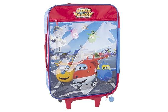 Pam Shop Maleta semirrígida SUPERWINGS AIRPORT rojo mini equipaje de mano ryanair VS112