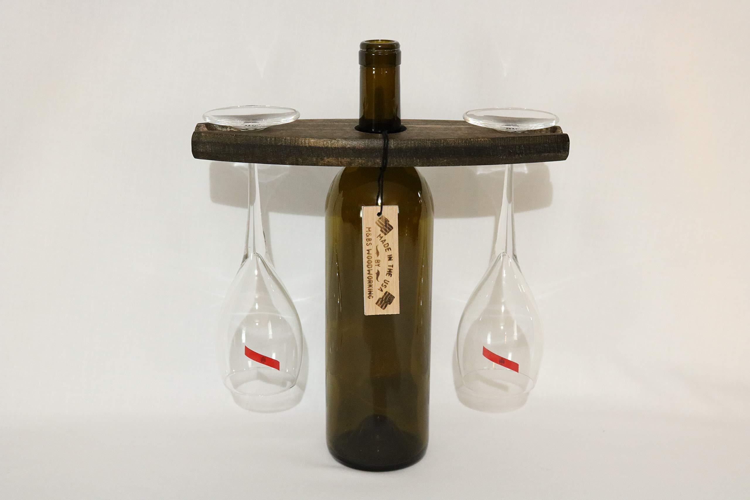 M&Bs Wooden Wine Glass Holder (Walnut)