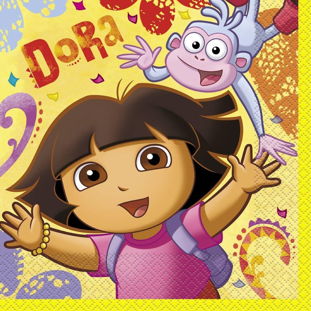 Amazon.com: Dora the Explorer Party Napkins, 16ct: Toys & Games