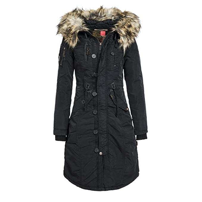 khujo Damen Winter Mantel Jacke Wintermantel Winterjacke Parka ELLEN 201415