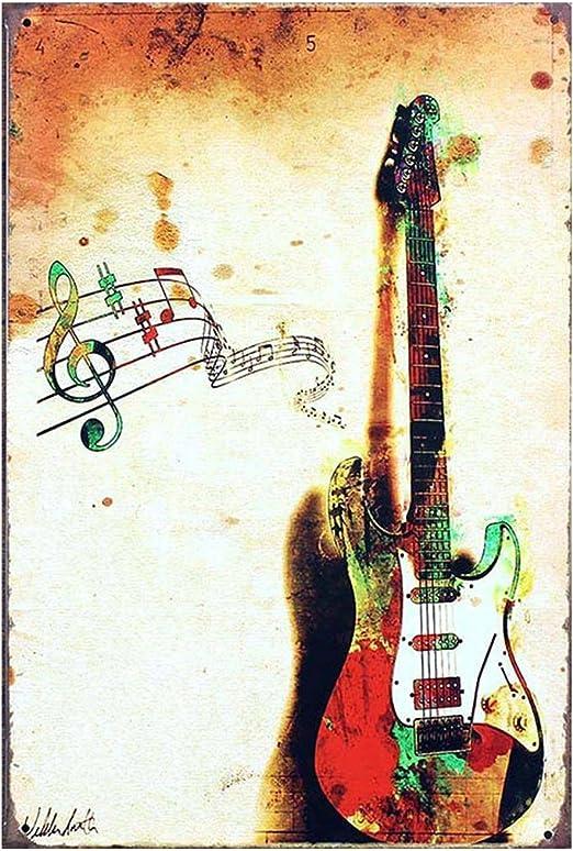 Música de la guitarra arte pinturas sobre lienzo de pintura al ...