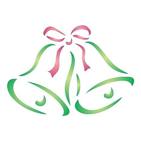 Plantillas Para Decorar Ventanas En Navidad.Plantilla De Campanas De Navidad Plantilla Reutilizable