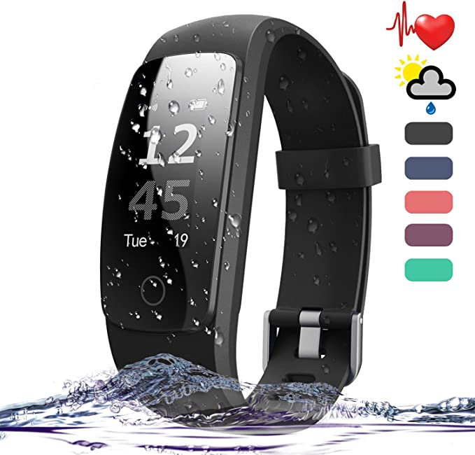 Amytech Fitness Tracker, Inteligente Pulsera Bluetooth 4.0 con ...