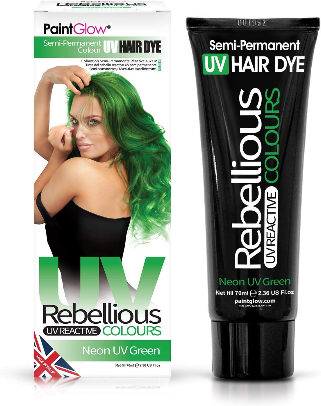 Neon UV Green, tinte para el cabello semipermanente - Colores rebeldes