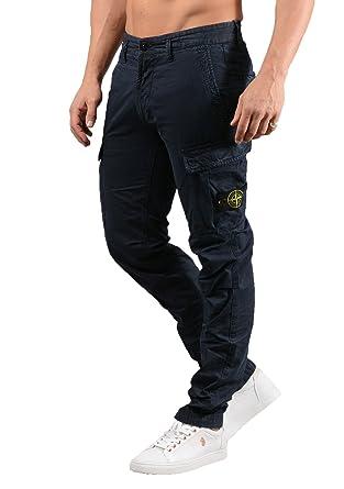 plus grand choix plusieurs couleurs détaillant Stone Island Hommes 3s2wa TC + Vieux Pantalon Cargo en Bleu ...