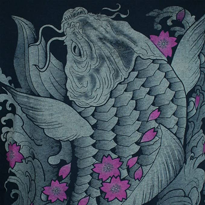 Ako Roshi Camiseta Hombre Hermosa Koi Talla M L XL Pescado Japón ...