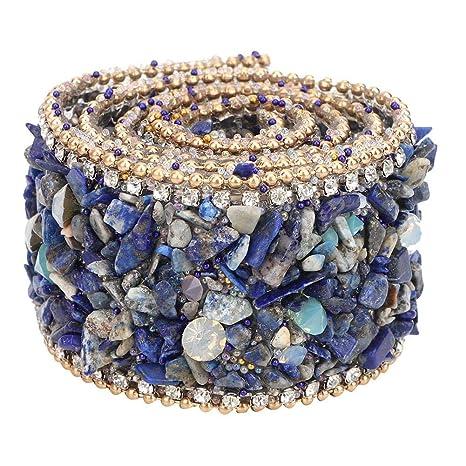 6x12mm Cristal Vidrio Nosso Azul Agua Pedrería Gemas del grano de Costura Coser en