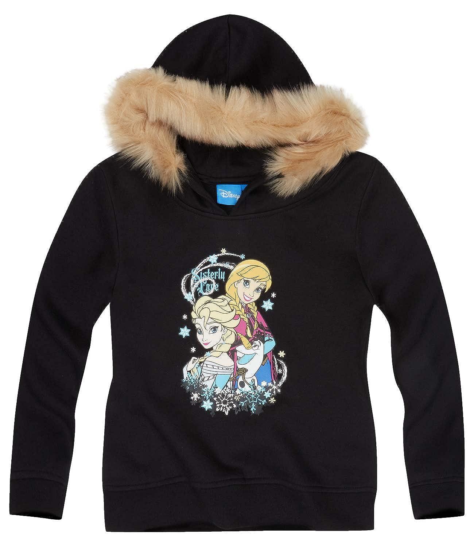 Disney Die Eiskönigin Elsa & Anna Mädchen Sweatshirt mit Kapuze 2016 Kollektion - schwarz