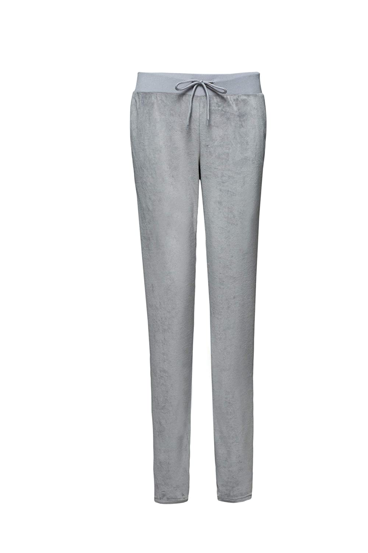 Grey XMMORNING Women's Velour Pants with Pociets, Soft Velvet Tracksuit