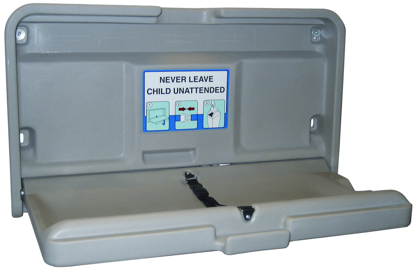 Impact 1170 Gray Baby-Changing Table, 36'' Length x 20-1/2'' Width x 4-1/2'' Height