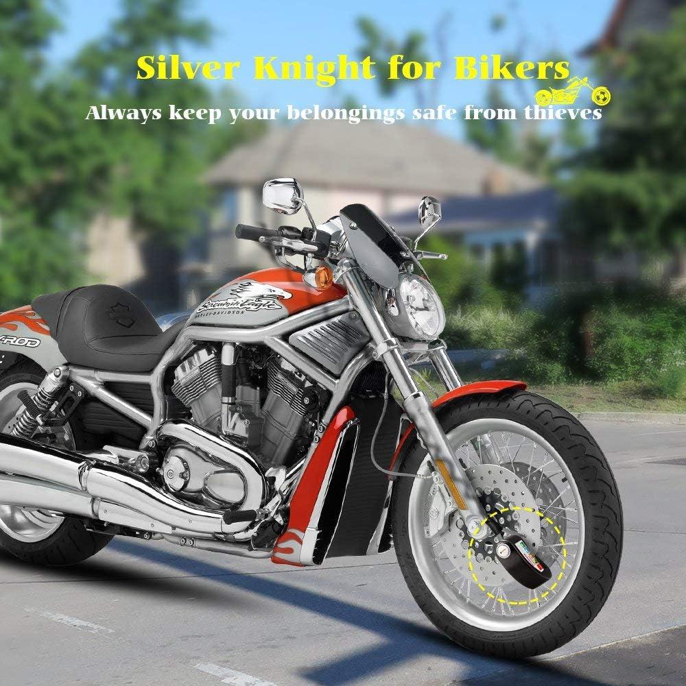 MYSBIKER Motorrad Bremsscheibenschloss Motorradschloss f/ür Motorrad und Fahrrad /… Alarm Scheibenschloss 110dB Laute Sirene Alarm 6mm Pushdown mit 2m Erinnerungskabel