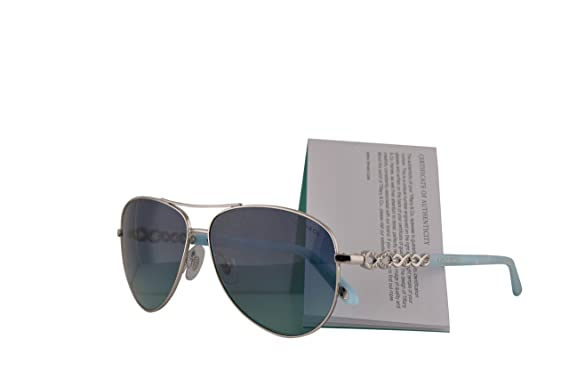 2d722a4f7c4d Image Unavailable. Image not available for. Color: Tiffany & Co. TF3049B  Sunglasses Silver w/Blue Gradient Lens 58mm 60019S ...