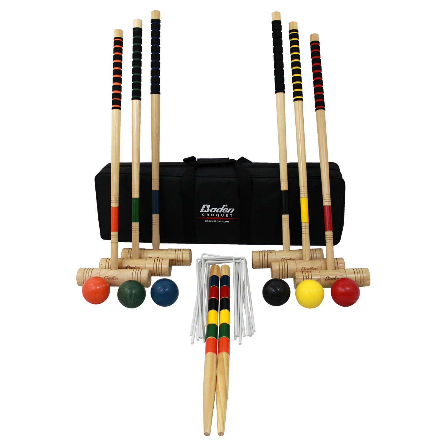 Baden 6-player Champions Croquet Set with Soft Grip Handles by Baden