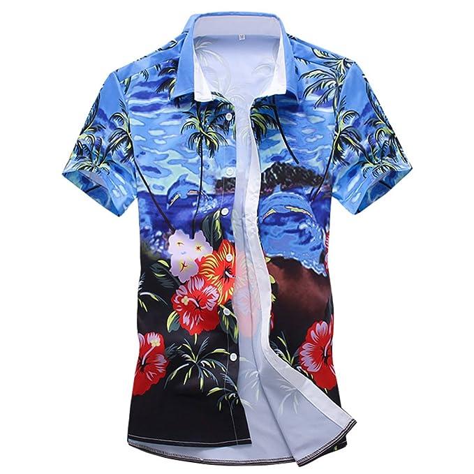 selezione migliore 064a6 84426 WanYangg Uomo Camicia Hawaiana Manica Corta Camiceria Funky ...