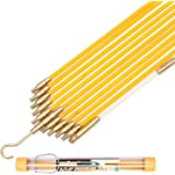 11' Fiberglass Running Wire Cable Coaxial Electrical Fish Tape Pull Push Kit