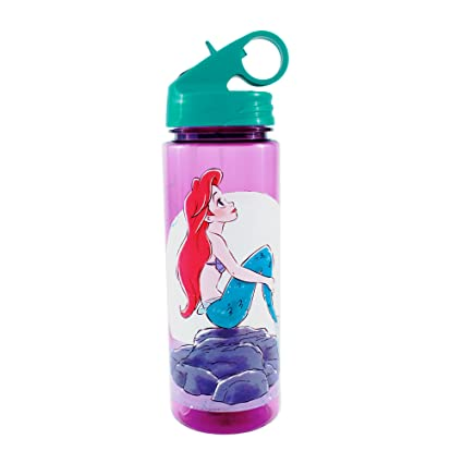 3256de0079 Image Unavailable. Image not available for. Color: Silver Buffalo DN8464  Disney's The Little Mermaid Ariel Sitting on Rocks Tritan Water Bottle ...