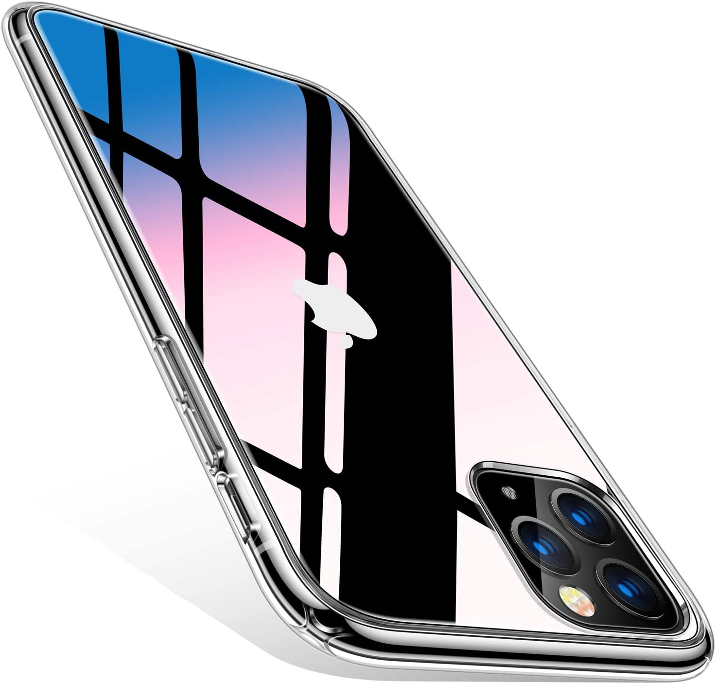 TORRAS Diamonds Clear iPhone 11 Pro Case, [10X Anti-Yellowing] [Shock Absorption] Thin Slim Fit Shockproof Hard PC Back & Soft TPU Bumper Phone Cover Designed for iPhone 11 Pro Cases, Transparent