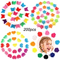 Butterfly Clips Small Hair Clips, Taomoder 200 Pieces Assorted Colorful Mini Hair Clips with Petal Flower Heart Shape…