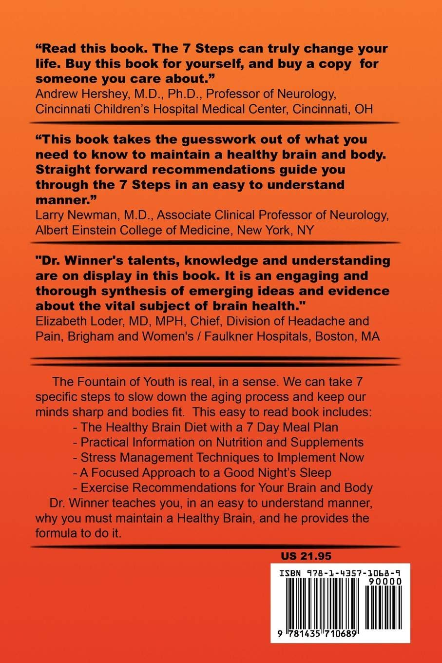Buy 7 Steps to a Healthy Brain Book Online at Low Prices in