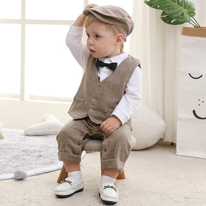 Baby mit schickem Gentlemen Outift