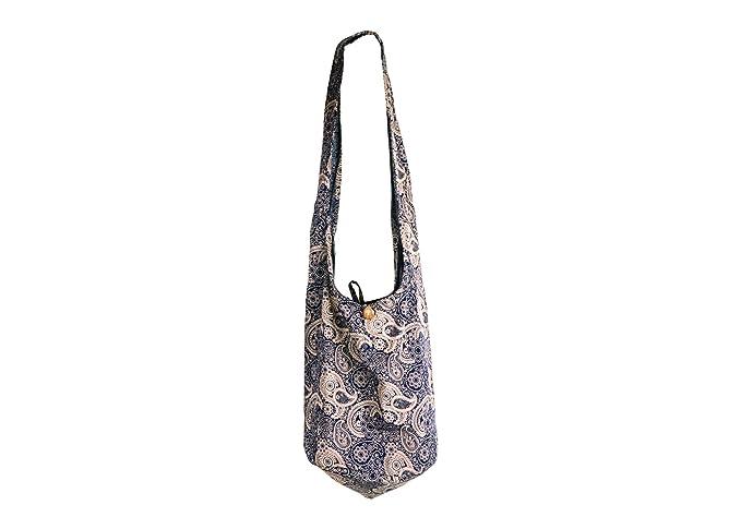 d5fbb28109 SLING Bag COTTON 40 PRINTs Men or Women CROSSBODY bag LARGE BOHO hippie  hobo handbag (