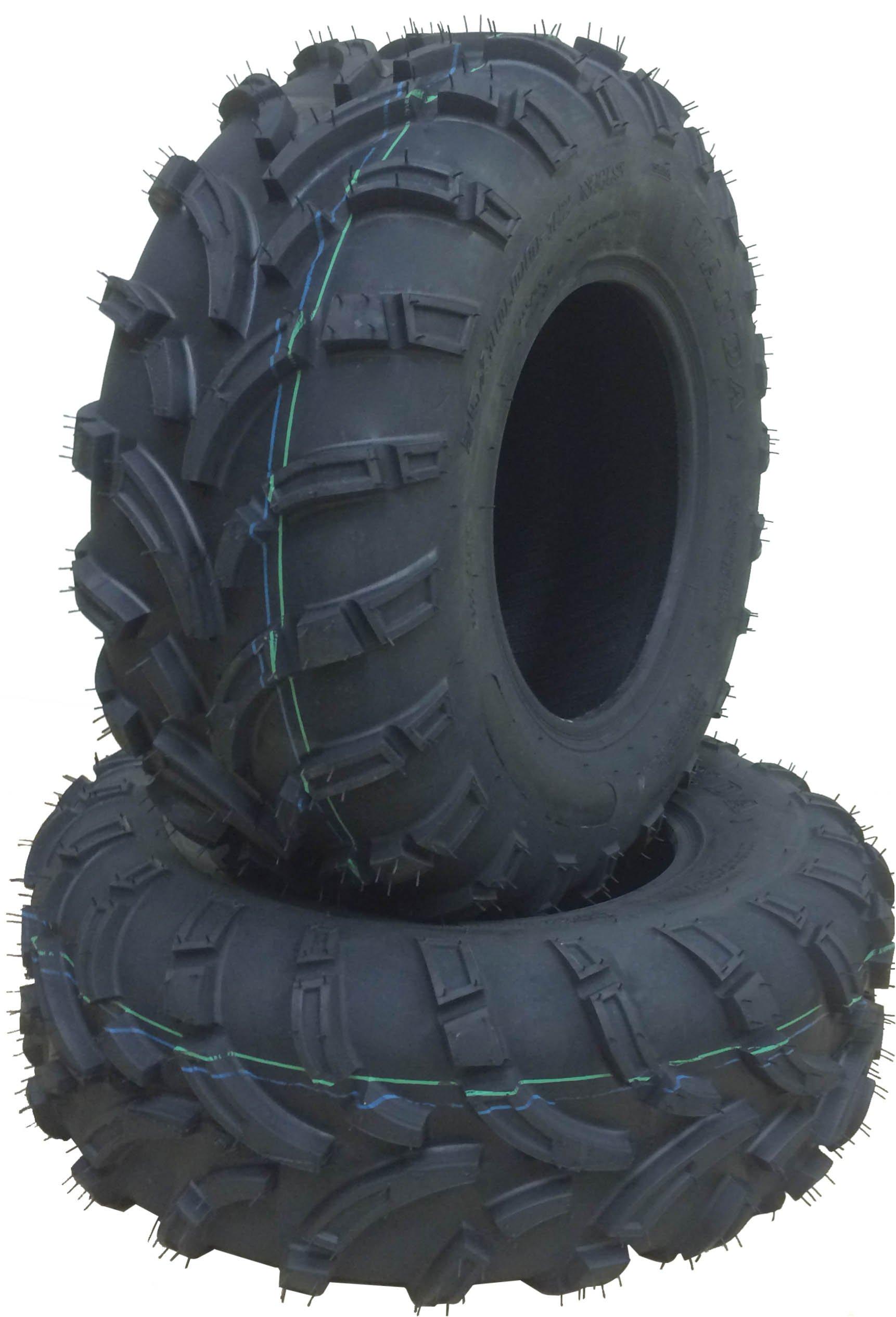 Set of 2 New WANDA ATV/UTV Tires 25x10-12 /6PR P373 High Load tires …