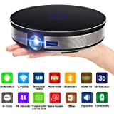 CANGSIKI D8S LED Android 6.0 Smart Projector,4K Decoding True 3D Home Theater Protable Video Projector Octa-core RK3368 CPU with GooglePlay/Netflix/YouTube/Kodi/LiveTV, 3500 Lumens 1080p HD Pico DL(3
