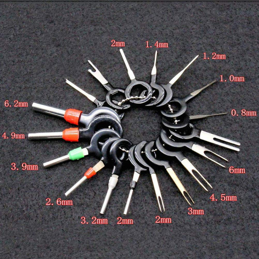 21PCS Car Terminal Removal Key Tool Set Auto Electrical Wiring Crimp Connector Extractor Puller Release Pin