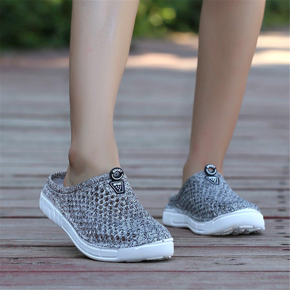 Ginjang Women's Garden Clogs Shoes Slip-on Slippers Sandals(38/Gray) by Ginjang (Image #6)
