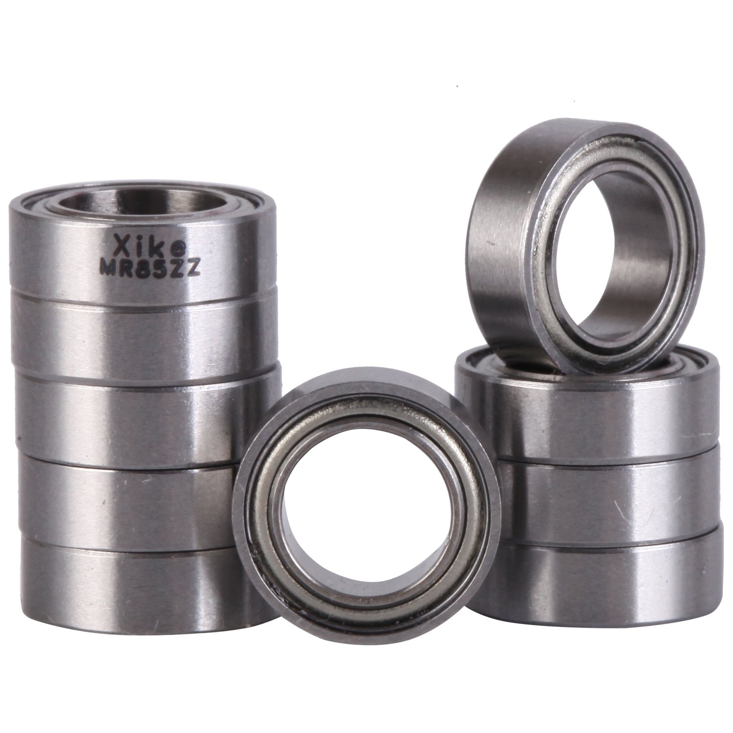 10 Pcs - MR85ZZ 5x8x2.5mm Shielded Precision Ball Bearing. Replace Traxxas 5114, TLR TLR23700, Axial AXA1213, Losi LOSB1728, HPI B020, Tamiya 42111. - RC Cars and Trucks Bearing.