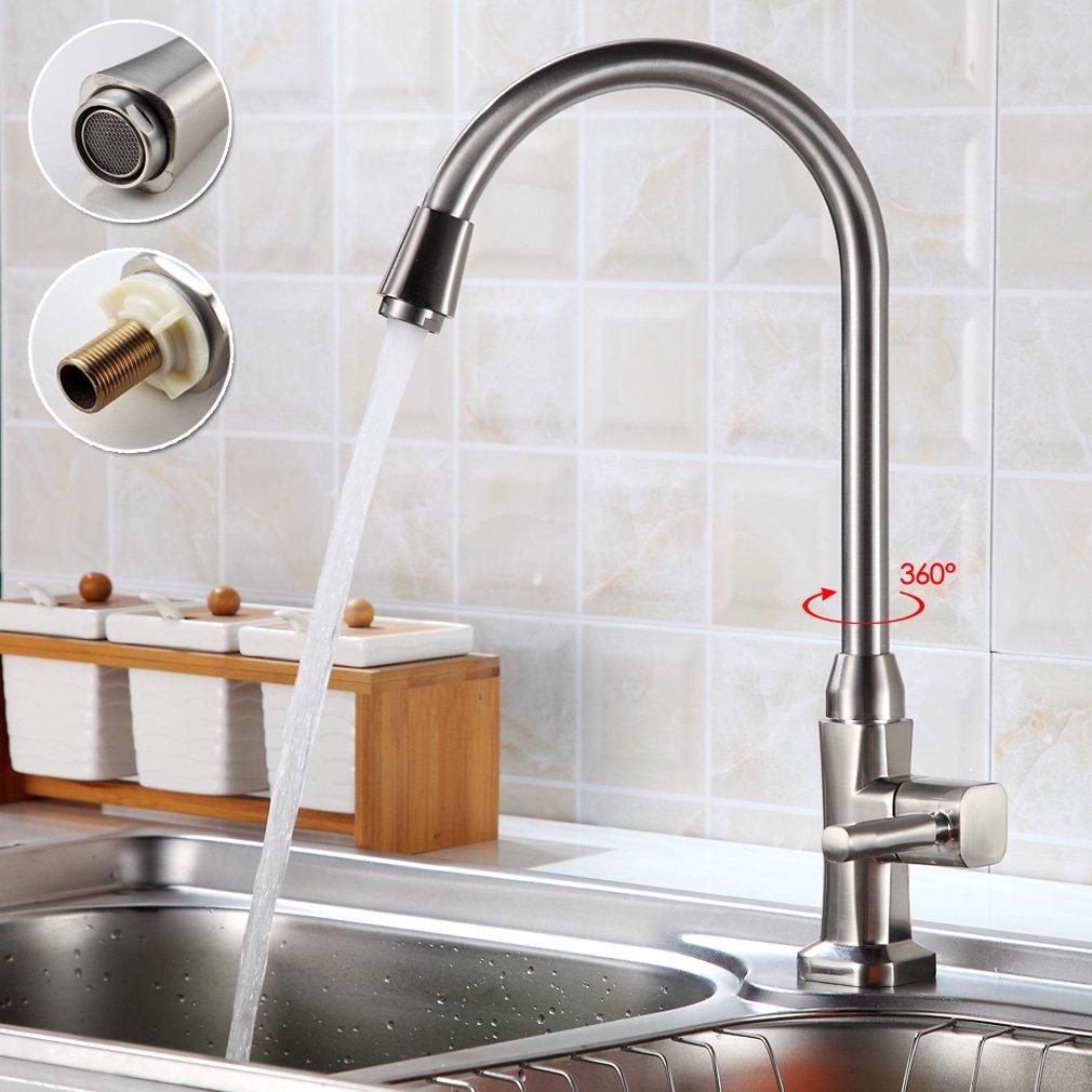 Auralum® 360 °di Rotazione Rubinetto Lavello cucina Rubinetti rubinetto dell'acqua fredda per la Cucina YTM