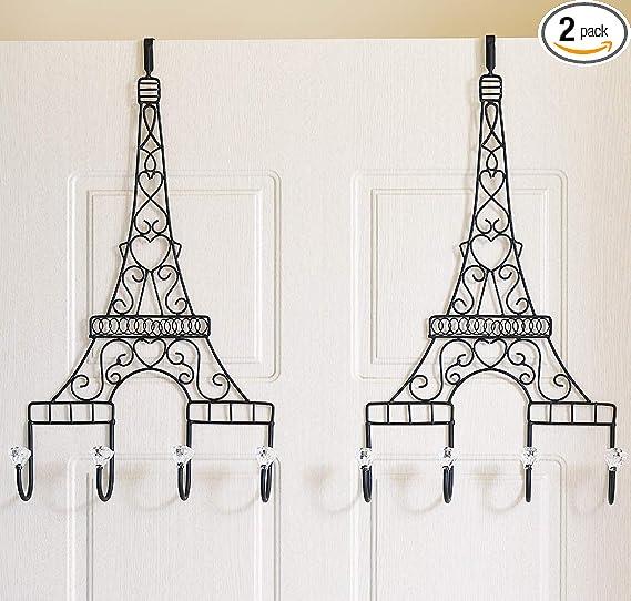 Eiffel Tower Door Hanger Hat Clothes Coat Over Door Hook Bathroom Rack Holder