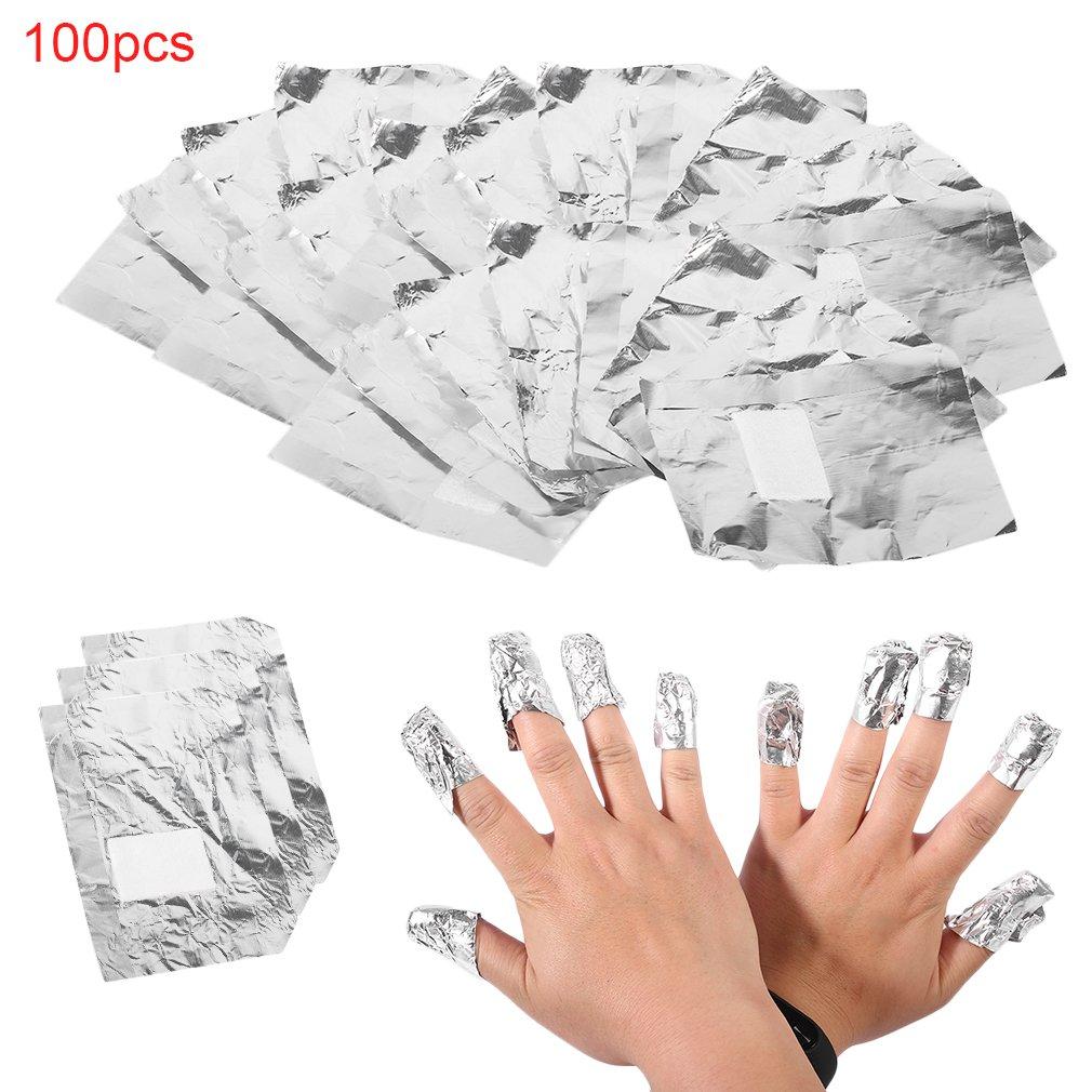 Nicedeal 100pcs alluminio foil nail art soak off Gel acrilico smalto per unghie Remover bellezza