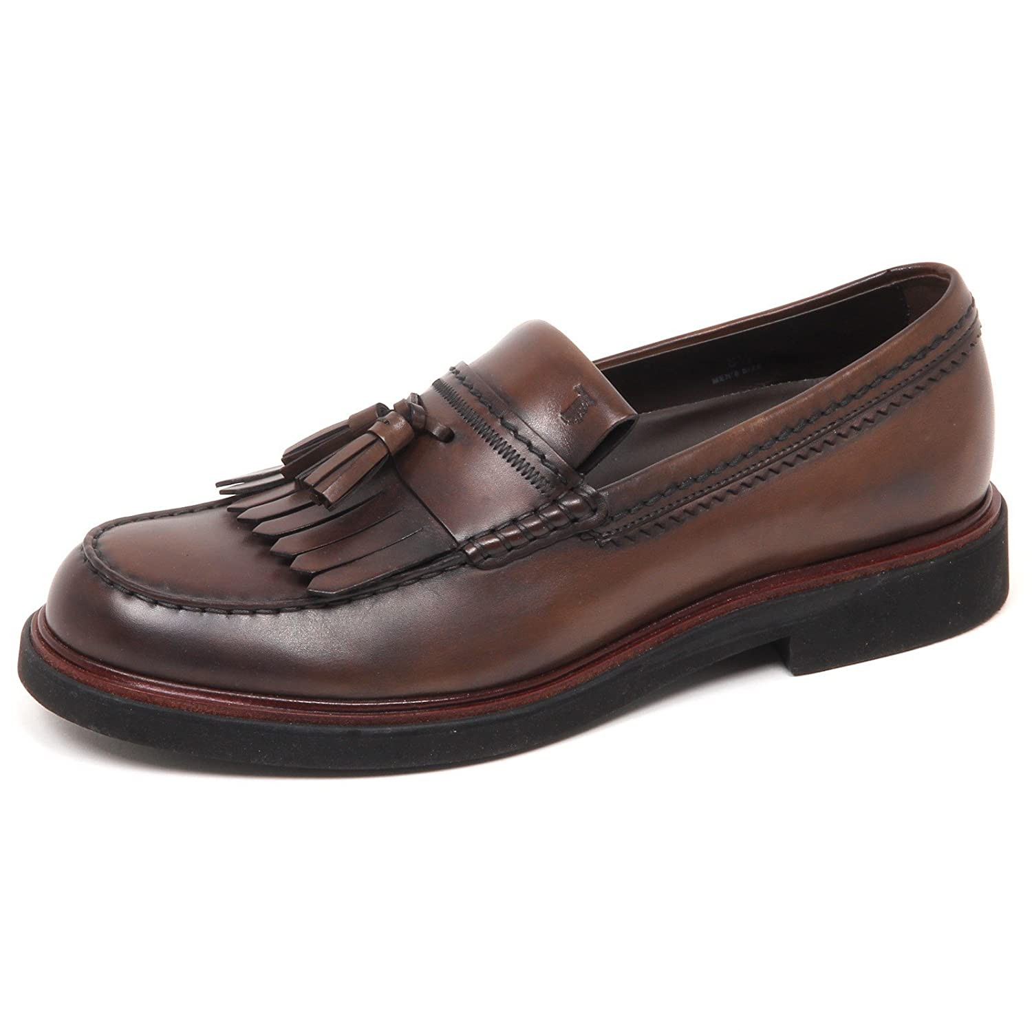 Tod's E7554 Loafer Mocassino  Herren Braun Schuhe Vintage Effect Loafer E7554 Schuhe Man Marrone a6bb68