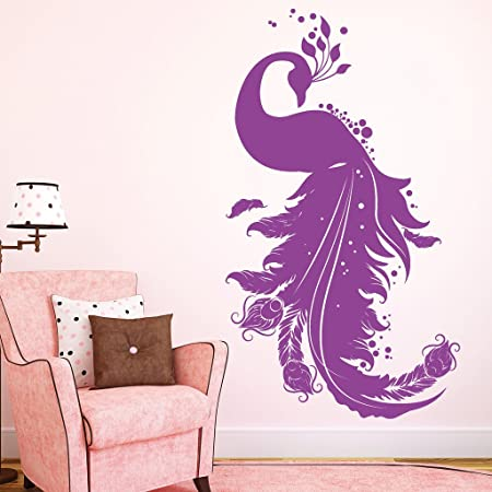 992abfc6b29  Loft Wall Art Beautiful 54 Wall Stickers Words Quotes Wall Sticker Decals  Peacock Colours 3 Sizes
